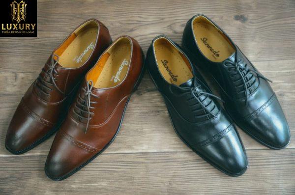 Giày Oxford nam HT-346 - Mẫu giày da nam Sanvado da cao cấp