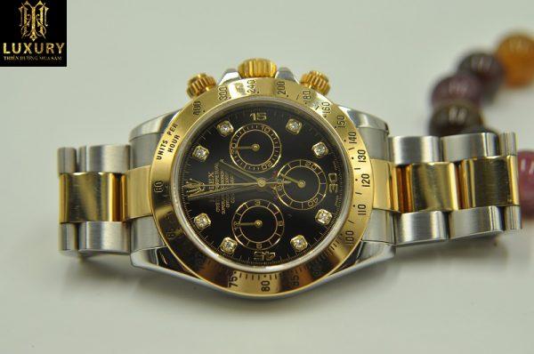 Đồng hồ Rolex 116523 Cosmograph Daytona mặt vàng đen - HT Luxury