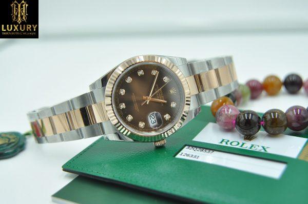 Đồng hồ Rolex 126331 Datejust II mặt Chocolate đính kim cương