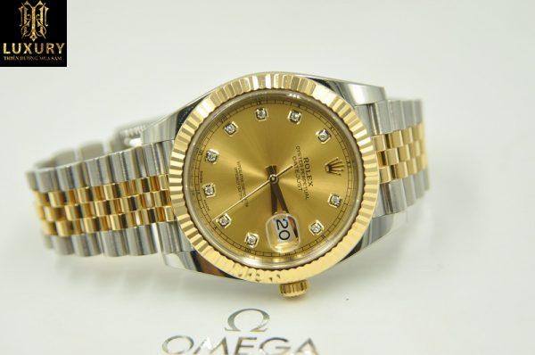 Đồng hồ Rolex 126333 Datejust II mặt vàng đính kim cương - HT Luxury