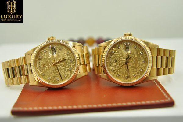 Đồng hồ Rolex 18238 Day Date President vàng đúc 18k - HT Luxury