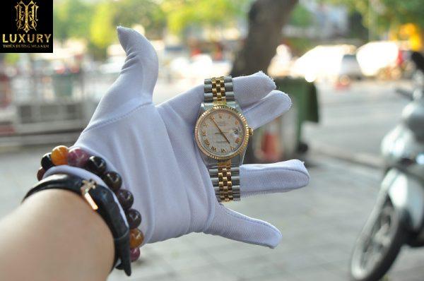 Đồng hồ Rolex 5 số đời cuối 16233 demi vàng 18k mặt 3D - HT Luxury