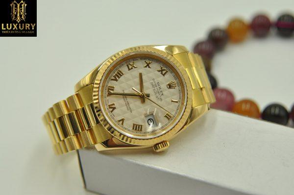 Đồng hồ Rolex Datejust 116208 mặt 3D vàng đúc 18k - HT Luxury