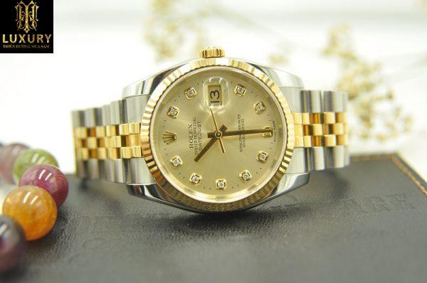 Đồng hồ Rolex Datejust 116233 demi vàng đúc 18k seri D - HT Luxury