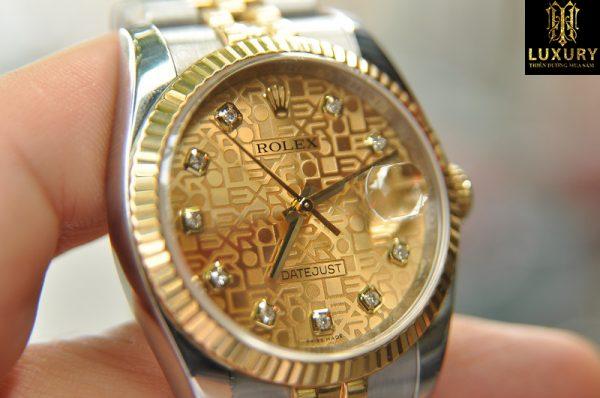 Đồng hồ Rolex Datejust 116233 demi vàng đúc 18k đính kim cương