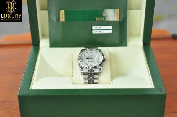 Đồng hồ Rolex Datejust 116234 seri G đính kim cương mới 99%