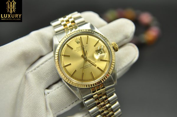 Đồng hồ Rolex Datejust 1601 demi vàng đúc 18k chính hãng - Ht Luxury