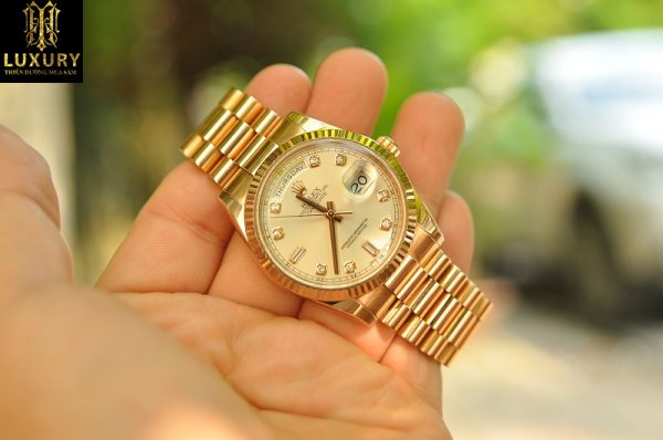 Đồng hồ Rolex Day Date President 118235 vàng hồng 18k - HT Luxury