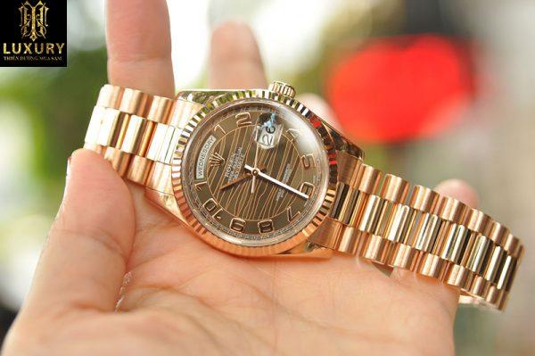 Đồng hồ Rolex Day Date President Everose 118235 mặt vân hổ