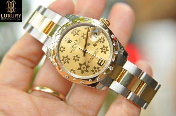 Đồng hồ Rolex nữ 178343 Oyster Perpetual Datejust demi đính kim cương