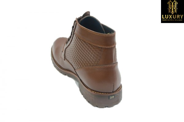 Giày da nam cao cổ chelsea boot HT-7794 da bò cao cấp - HT Luxury