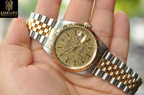 Đồng hồ Rolex Datejust 16233 demi vàng đúc 18k chính hãng - HT Luxury