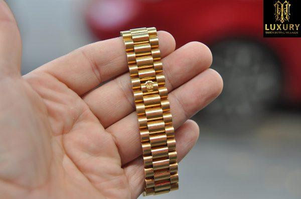 Đồng hồ Rolex Day Date President 18238 vàng đúc 18k mặt kim cương