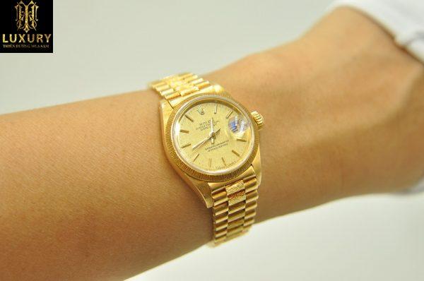 Đồng hồ Rolex nữ Oyster Datejust 6927 vàng đúc 18k - HT Luxury