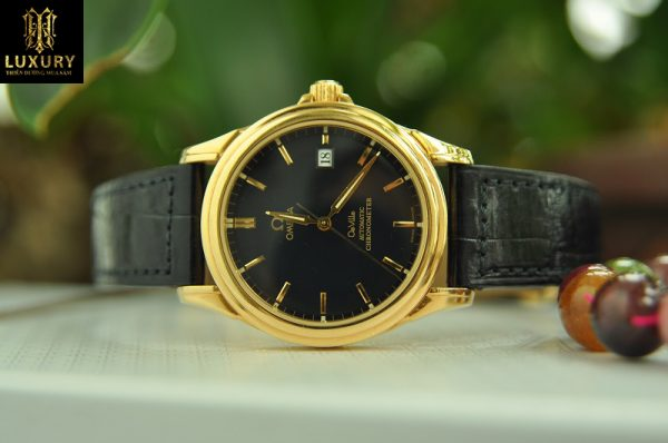 Đồng hồ Omega Collection DeVille Co-Axial Chronometer vàng đúc 18k