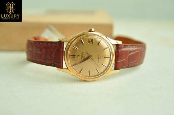 Đồng hồ Omega Constellation bát úp vàng hồng đúc 18k