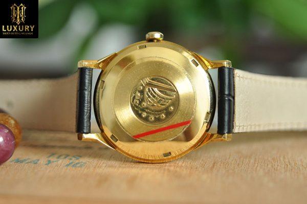 Đồng hồ Omega Constellation bát quái vàng 18k mũi kim nhọn
