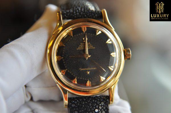 Đồng hồ Omega Constellation bát quái vàng 18k cực chất