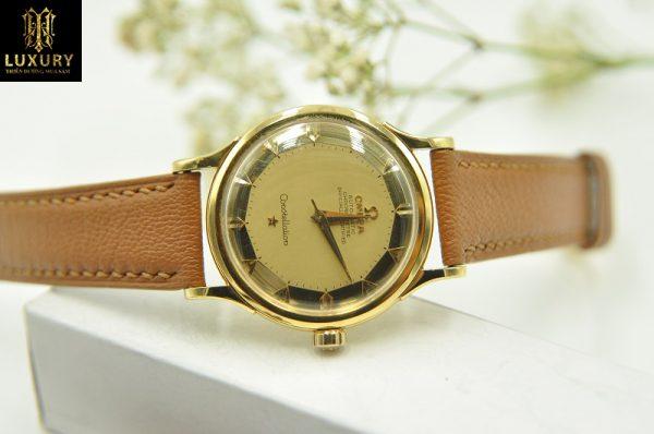Đồng hồ Omega Constellation bát quái vàng đúc 18k chính hãng Thụy Sĩ
