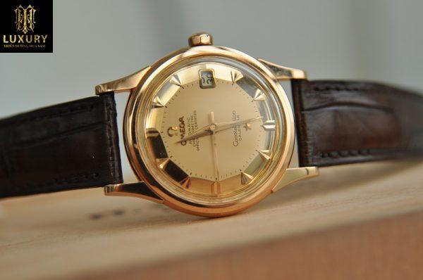 Đồng hồ Omega Constellation Calendar vàng hồng đúc 18k cực đẹp
