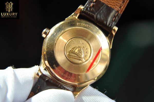 Đồng hồ Omega Constellation Calendar bát quái vàng hồng 18k
