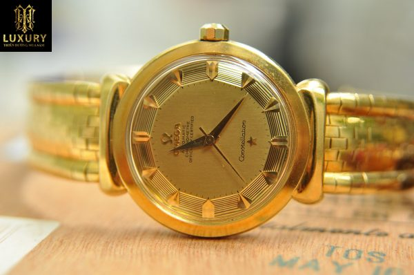 Đồng hồ Omega Constellation vàng đúc 18k máy Cal.505