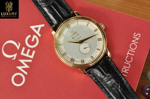 Đồng hồ Omega De Ville 4614.30.02 mặt size 39mm vàng đúc 18k