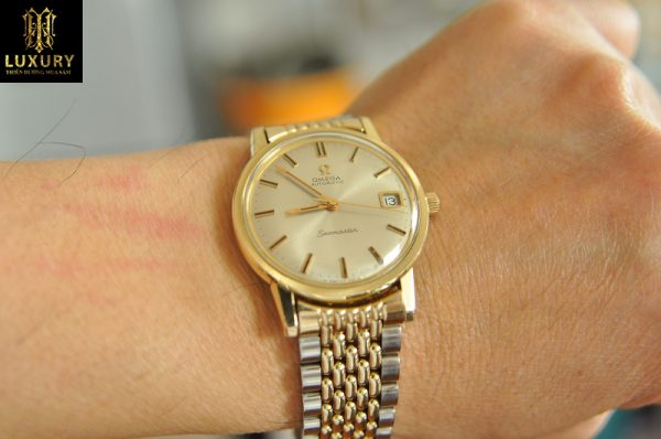 Đồng hồ Omega Seamaster vàng 14k demi chính hãng