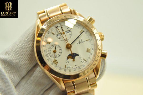 Đồng hồ Omega Speedmaster Triple Calendar Moonphase vàng đúc 18k