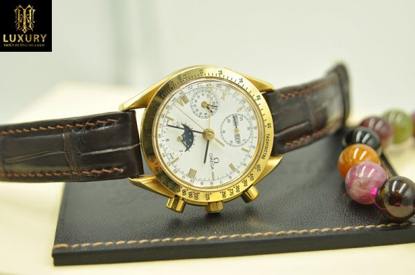 Đồng hồ Omega Speedmaster Triple Calendar Moonphase vàng 18k