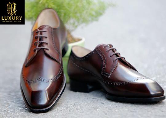 Giày derby nam VH66 - Mẫu giày nam cao cấp da bê Pháp