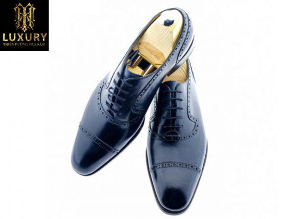 Giày tây đen nam cao cấp M42 cho các quý ông tại Hà Nội, TPHCM