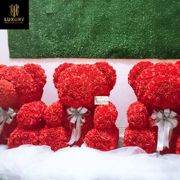 Hoa sáp gấu bông cực đẹp làm quà tặng bạn gái - HT Luxury