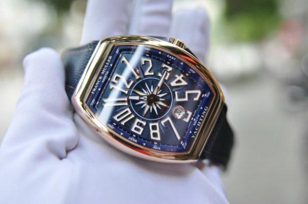 Đồng hồ Franck Muller nam Vanguard V41 Yachting vàng đúc 18k nguyên khối