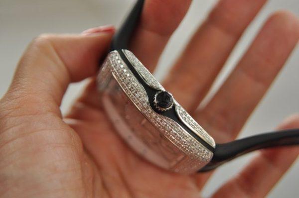 Đồng hồ Franck Muller nữ Vanguard size V35 Stell đính kim cương