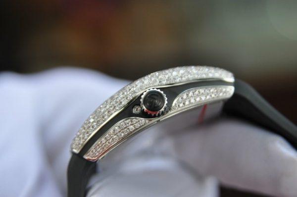 Đồng hồ Franck Muller nữ Vanguard V32 Moonphase Stell kim cương