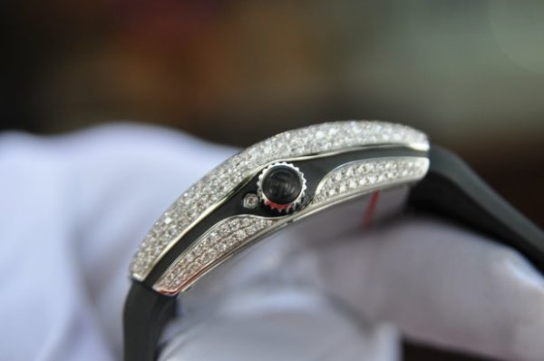 Đồng hồ Franck Muller nữ Vanguard V32 Moonphase đính full kim cương