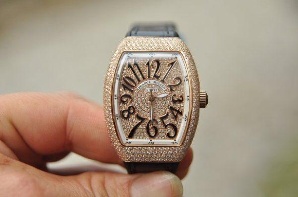 Đồng hồ Franck Muller Vanguard V32 nữ vàng 18k full kim cương