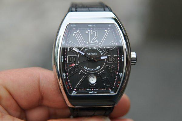 Đồng hồ Franck Muller Vanguard V41 SD Stell mặt đen new 2018