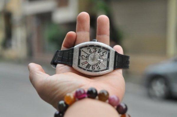 Đồng hồ Franck Muller Vanguard V41 nam full kim cương chính hãng