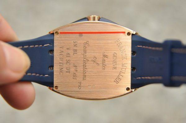Đồng hồ Franck Muller Yachting V41 nam xanh Navy vàng khối 18k
