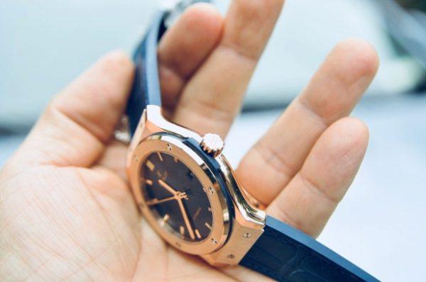 Đồng hồ Hublot Classic Fusion Blue King Gold 18k vàng hồng