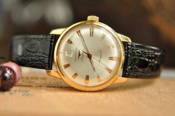 Đồng hồ Longines ConquestL1.611.8.78.4 vàng đúc 18k Thụy Sĩ