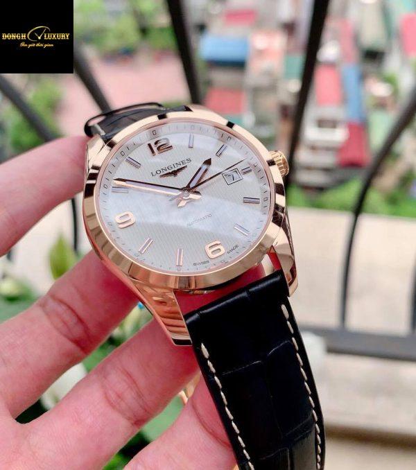 Đồng hồ Longines Conquest Solid Gold thỏi vàng đúc 18k