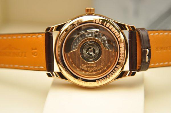 Đồng hồ Longines L2.518.8.78.3 vàng đúc nguyên khối 18k.