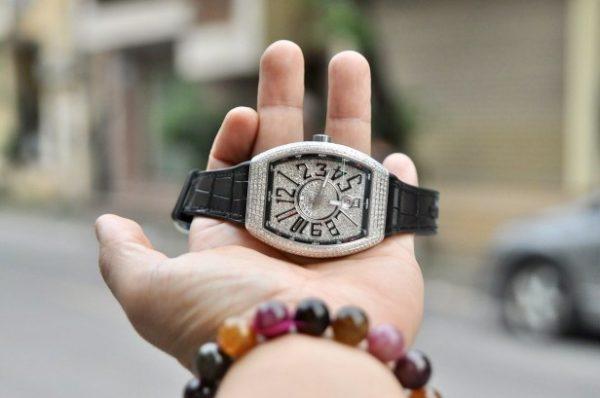 Đồng hồ Frank Muller Vanguard V41 Full kim cương chính hãng