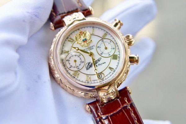 Đồng hồ Nga President chữ ký Putin vàng đúc 14k chạm khắc thủ công