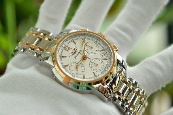Đồng hồ Longines Saint-Imier L2.753.5.72.7 Collection Automatic Chronograph vàng 18K