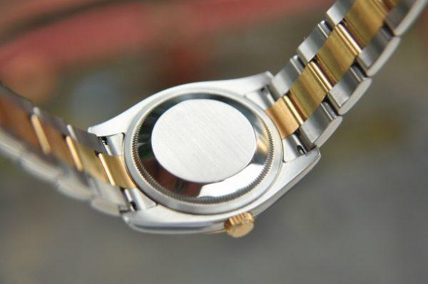Đồng hồ nam Rolex Datejust 116233 demi mặt tia xanh Navy vàng 18k