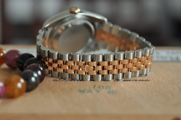 Đồng hồ Rolex 116231 Datejust demi vàng 18k mặt phấn hồng